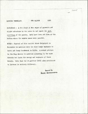 Image for K1225 - Alan Burroughs report, circa 1930s-1940s