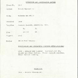 Image for K1217 - Condition and restoration record, circa 1950s-1960s