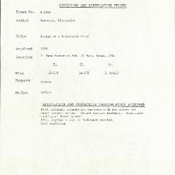 Image for K1222 - Condition and restoration record, circa 1950s-1960s