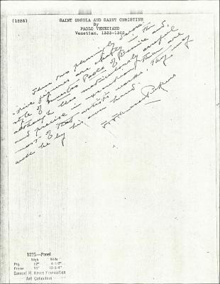 Image for K1225 - Expert opinion by Perkins, circa 1920s-1940s