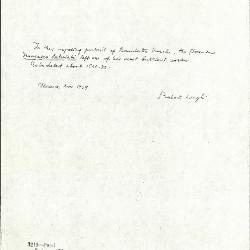 Image for K1219 - Expert opinion by Longhi, 1939