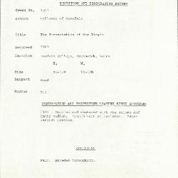 Image for K1227 - Condition and restoration record, circa 1950s-1960s