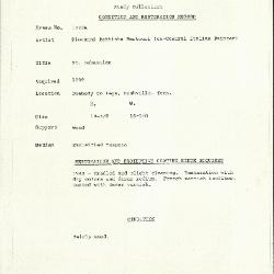 Image for K1229A - Condition and restoration record, circa 1950s-1960s