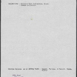 Image for K1234 - Art object record, circa 1930s-1950s