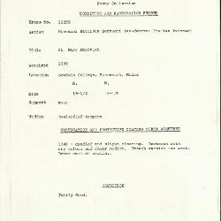 Image for K1229B - Condition and restoration record, circa 1950s-1960s