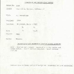 Image for K1235 - Condition and restoration record, circa 1950s-1960s