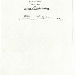 Image for K0123 - Expert opinion by Berenson, circa 1920s-1950s