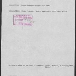 Image for K1228 - Art object record, circa 1930s-1950s