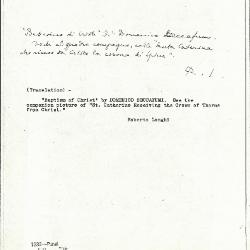 Image for K1232 - Expert opinion by Longhi, circa 1920s-1950s