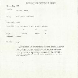 Image for K1264 - Condition and restoration record, circa 1950s-1960s