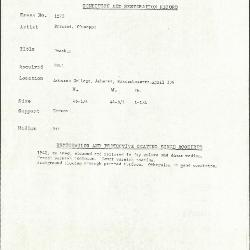 Image for K1270 - Condition and restoration record, circa 1950s-1960s