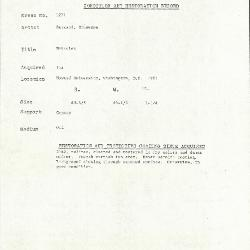 Image for K1271 - Condition and restoration record, circa 1950s-1960s