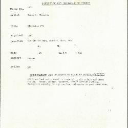 Image for K1272 - Condition and restoration record, circa 1950s-1960s