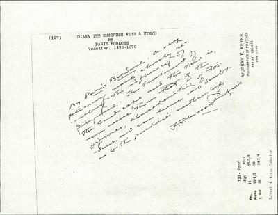 Image for K0127 - Expert opinion by Perkins, circa 1920s-1940s