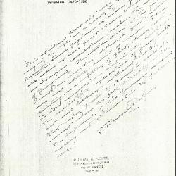 Image for K0126 - Expert opinion by Perkins, circa 1920s-1940s