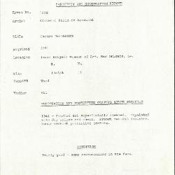 Image for K1268 - Condition and restoration record, circa 1950s-1960s