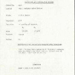 Image for K1279 - Condition and restoration record, circa 1950s-1960s