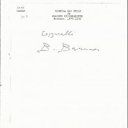 Image for K1283 - Expert opinion by Berenson, circa 1920s-1950s