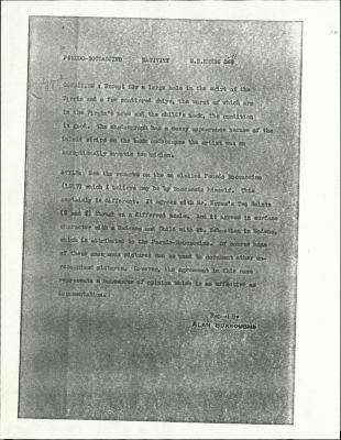 Image for K1291 - Alan Burroughs report, circa 1930s-1940s