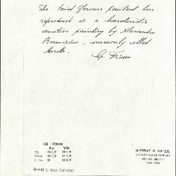 Image for K0128 - Expert opinion by Fiocco, circa 1930s-1940s