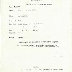 Image for K1284 - Condition and restoration record, circa 1950s-1960s