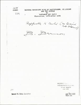 Image for K1299 - Expert opinion, circa 1920s-1960s