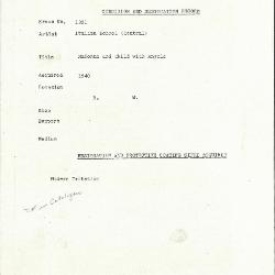 Image for K1301 - Condition and restoration record, circa 1950s-1960s