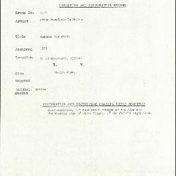 Image for K1310 - Condition and restoration record, circa 1950s-1960s