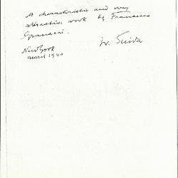 Image for K1294 - Expert opinion by Suida, 1940