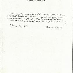 Image for K1294 - Expert opinion by Longhi, 1939