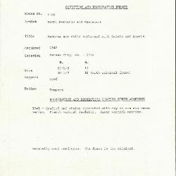 Image for K1300 - Condition and restoration record, circa 1950s-1960s