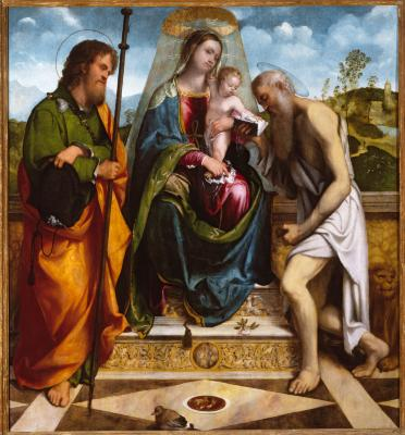 Image for Madonna and Child with Saint James Major and Saint Jerome