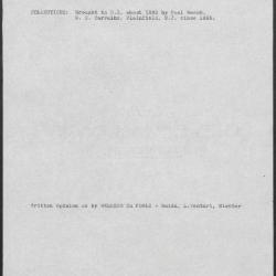 Image for K1329 - Art object record, circa 1930s-1950s