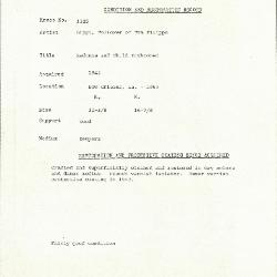 Image for K1325 - Condition and restoration record, circa 1950s-1960s