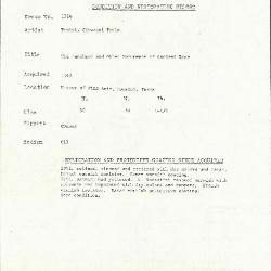 Image for K1324 - Condition and restoration record, circa 1950s-1960s