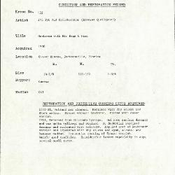 Image for K0132 - Condition and restoration record, circa 1950s-1960s