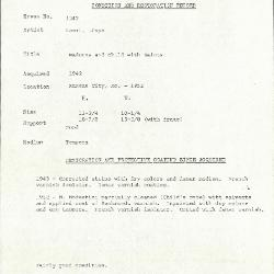 Image for K1343 - Condition and restoration record, circa 1950s-1960s