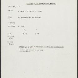 Image for K0135 - Condition and restoration record, circa 1950s-1960s