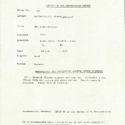 Image for K1334 - Condition and restoration record, circa 1950s-1960s