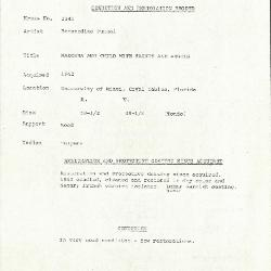 Image for K1341 - Condition and restoration record, circa 1950s-1960s