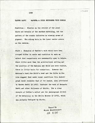 Image for K1348 - Alan Burroughs report, circa 1930s-1940s