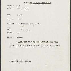 Image for K1372 - Condition and restoration record, circa 1950s-1960s