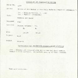 Image for K1364 - Condition and restoration record, circa 1950s-1960s