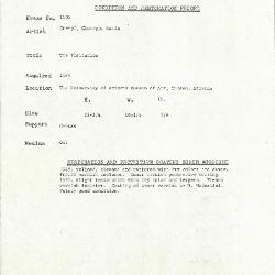 Image for K1404 - Condition and restoration record, circa 1950s-1960s