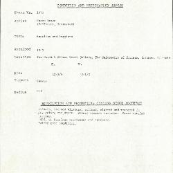 Image for K1371 - Condition and restoration record, circa 1950s-1960s