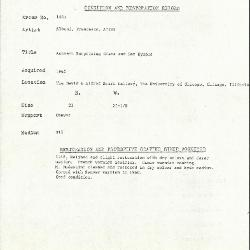 Image for K1405 - Condition and restoration record, circa 1950s-1960s