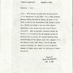 Image for K1364 - Alan Burroughs report, circa 1930s-1940s