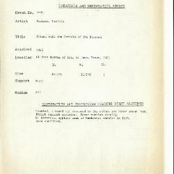 Image for K1402 - Condition and restoration record, circa 1950s-1960s