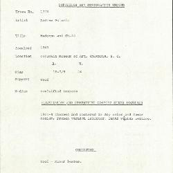 Image for K1374 - Condition and restoration record, circa 1950s-1960s