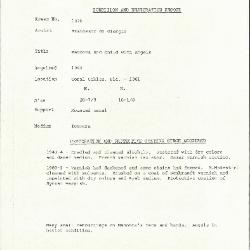 Image for K1370 - Condition and restoration record, circa 1950s-1960s